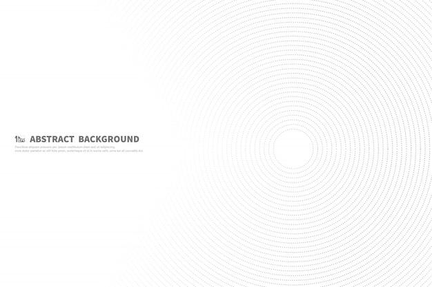 Абстрактная черная линия круг фон украшения технологий. Premium векторы