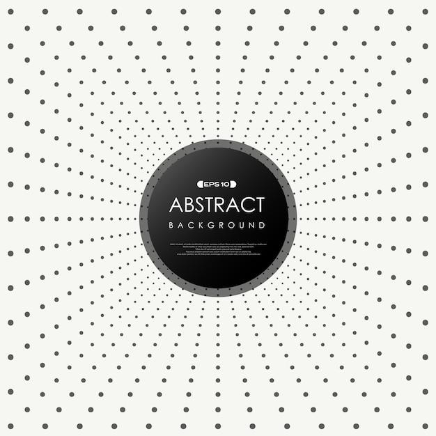 抽象的な黒いドット装飾背景。 Premiumベクター
