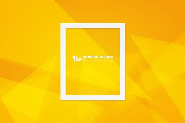 幾何学的設計技術テンプレートの背景の抽象的な黄色の三角形。 Premiumベクター