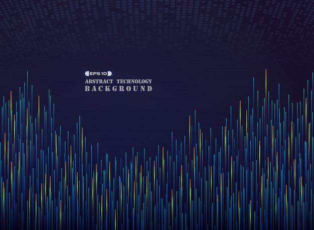 青い熱いトメの線のパターンで壮大な科学の未来 Premiumベクター