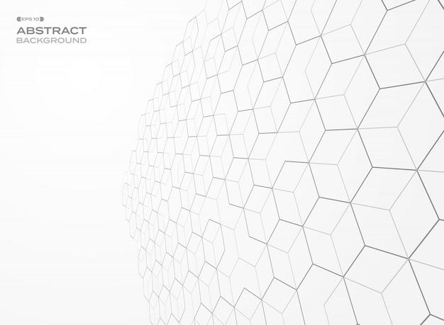 Пятиугольник шаблон геометрический перспективный фон. Premium векторы