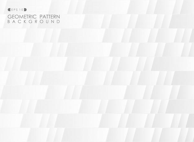 グラデーショングレーダイヤモンド四角形幾何学的パターンの背景。 Premiumベクター