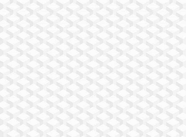 白い灰色の幾何学的な立方体パターンのデータ背景の要約。 Premiumベクター