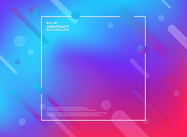 カラフルな幾何学的形状の背景の抽象 Premiumベクター