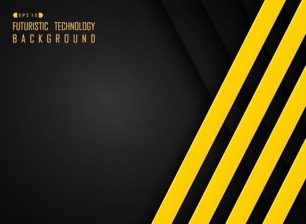 黒と黄色の色の背景 Premiumベクター