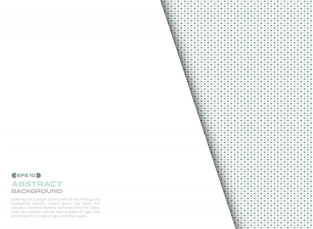 デジタル青と緑の正方形要素のカバーパターンコピースペースと背景。 Premiumベクター