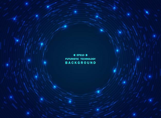 カオス未来的なグラデーションブルー技術の背景 Premiumベクター