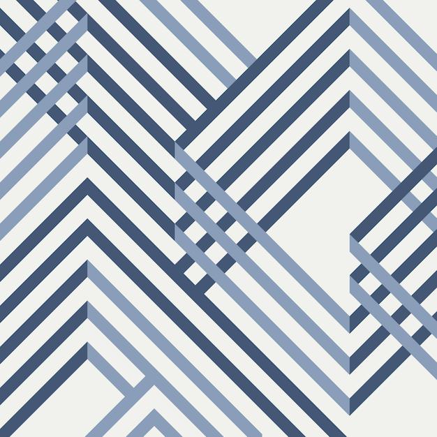 幾何学的な青いパターン設計の概要。 Premiumベクター