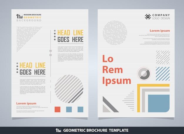 Абстрактная красочная геометрическая брошюра с текстом Premium векторы