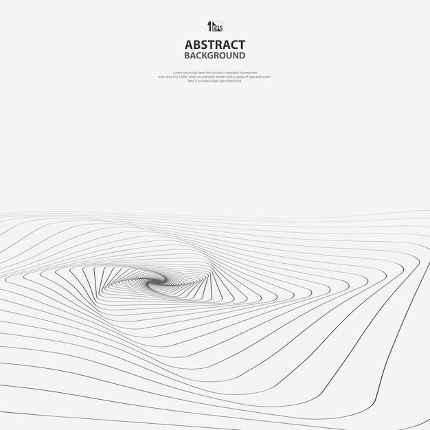 アートパターンの背景の抽象的な幾何学的なライン Premiumベクター