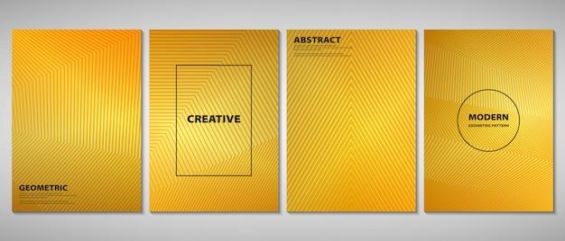 抽象的なゴールデングラデーションパンフレット Premiumベクター