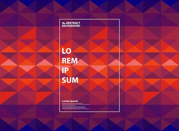 抽象的な紫とオレンジ色の幾何学的なグラデーションの背景。 Premiumベクター
