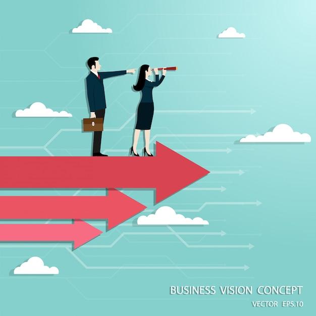 事業ビジョンと目標 Premiumベクター