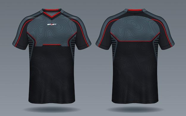 Шаблон футбольного свитера Premium векторы