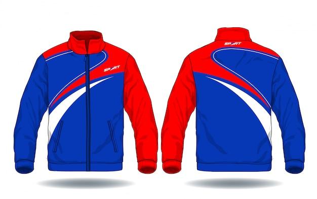 Векторная иллюстрация спортивной куртки. Premium векторы