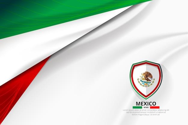 Концепция концепции флага мексики Premium векторы