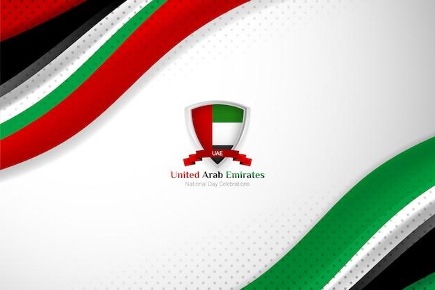 ナショナルデーのアラブ首長国連邦の旗の背景 Premiumベクター