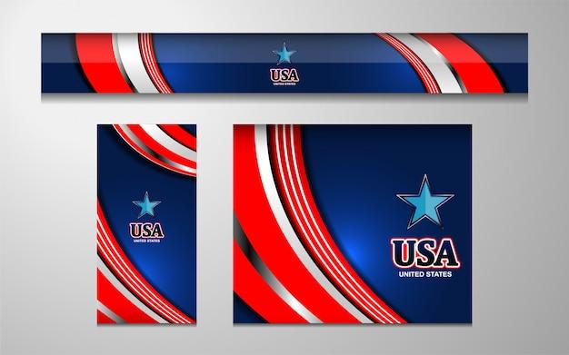 アメリカ独立記念日の背景 Premiumベクター