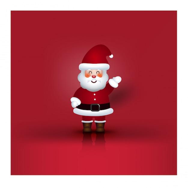 クリスマスキャラクター漫画サンタクロース Premiumベクター