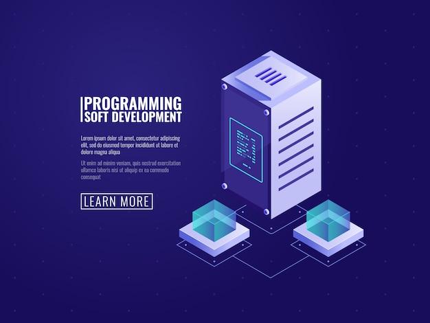 サーバーハードウェア、ウェブホスティング、コンピューターソフトウェア、クラウドストレージ、データ保護 無料ベクター
