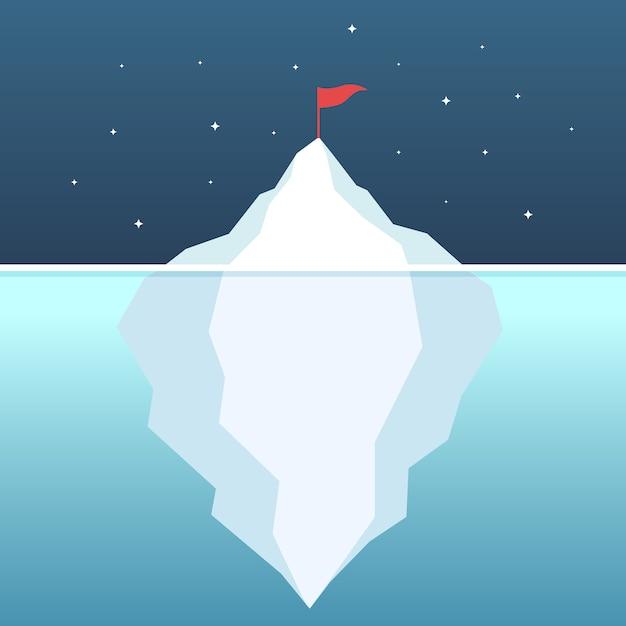 Цель достижения цели айсберга айсберг Premium векторы