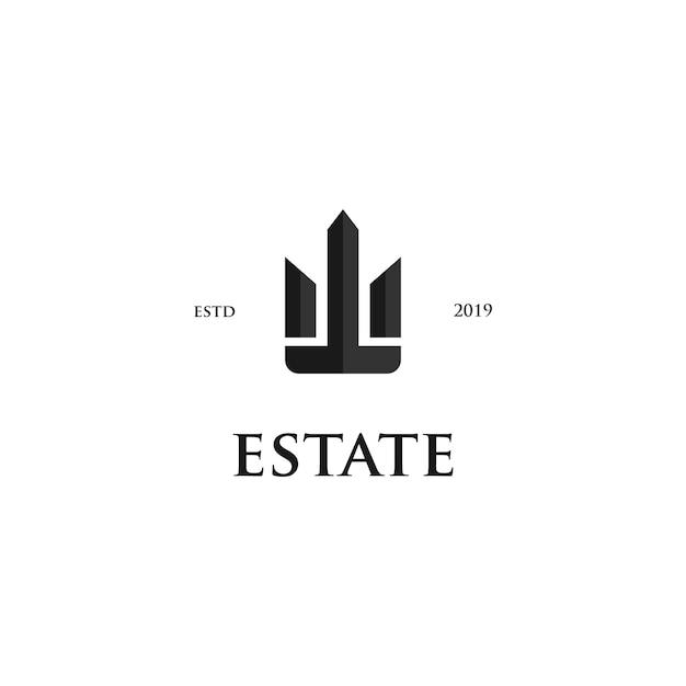 Поместье с логотипом Premium векторы