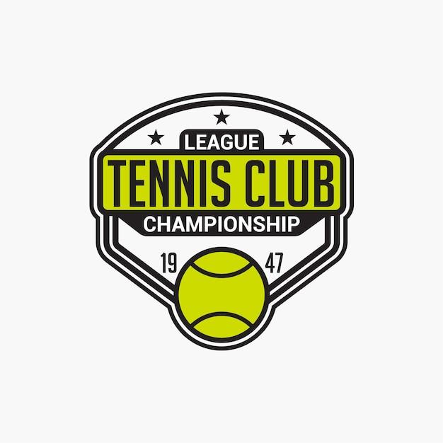 Значок теннисного клуба Premium векторы
