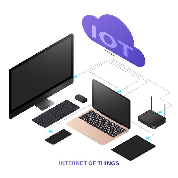 モノのインターネット技術コンセプト。 Premiumベクター