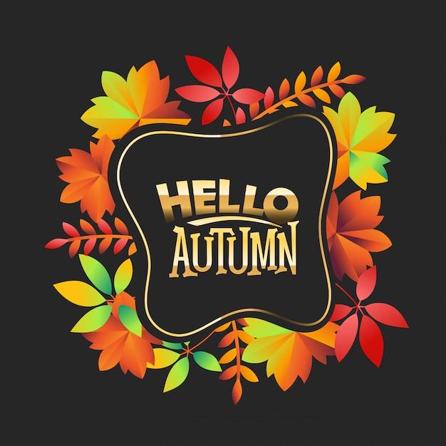 こんにちは秋の背景 Premiumベクター