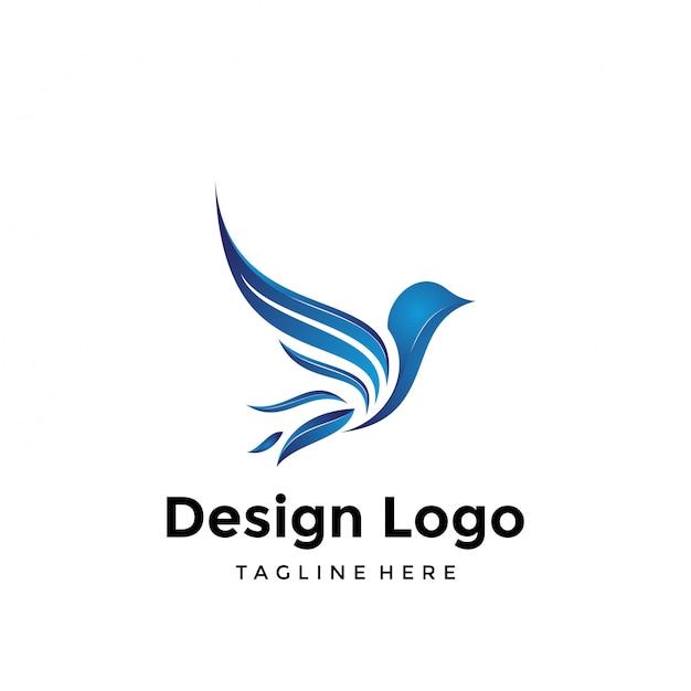 鳥のロゴ Premiumベクター