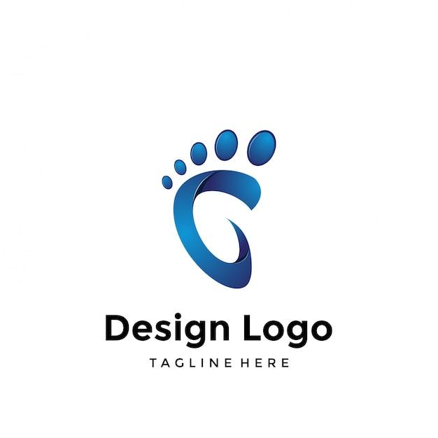 足のロゴ Premiumベクター