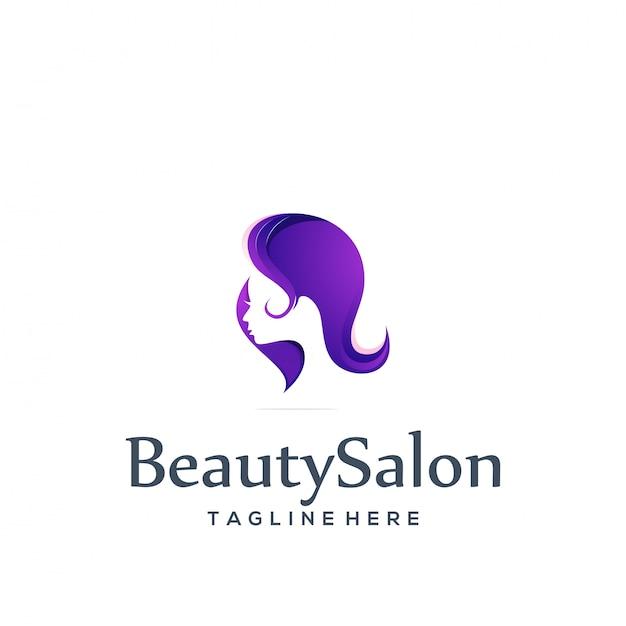 Шаблон логотипа салона красоты Premium векторы