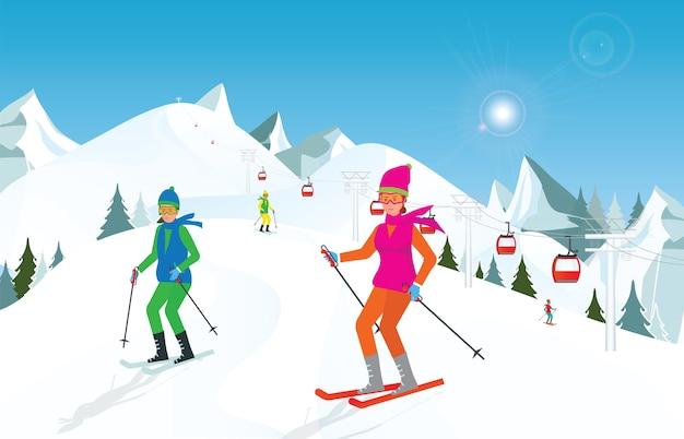 снайпер картинка на небе солнце люди на лыжах перекладываем