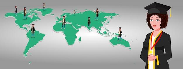 世界の高等教育 Premiumベクター