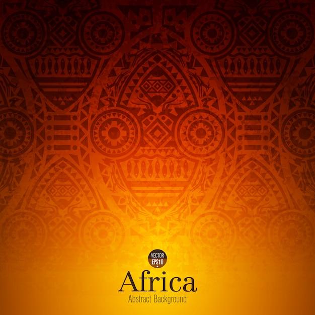 伝統的なアフリカの芸術の背景 Premiumベクター