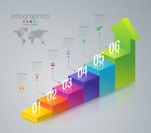 Бизнес инфографики элементы Premium векторы