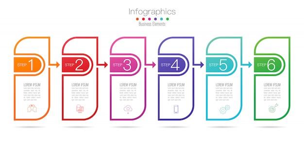Инфографика дизайн с шагами или вариантами. Premium векторы