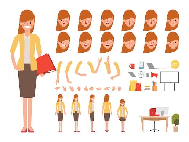 人々のキャラクター作成デザインがアニメ化されました。 Premiumベクター