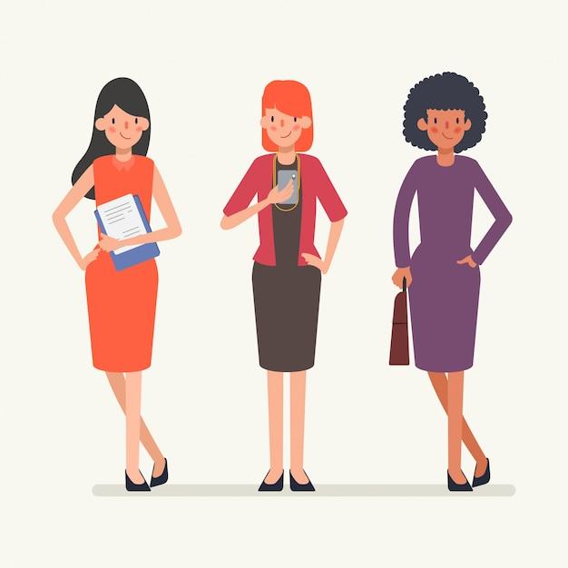 Анимация сцены деловых людей команде характер. Premium векторы