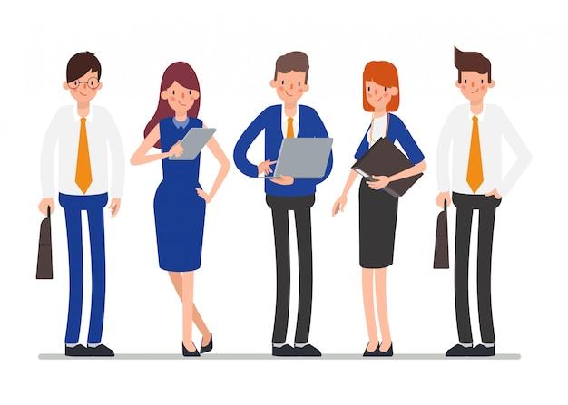 労働者のグループ労働日のチームワーク。 Premiumベクター