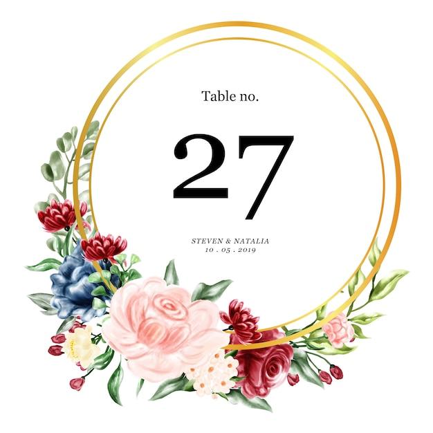 テーブルウェディングカード Premiumベクター