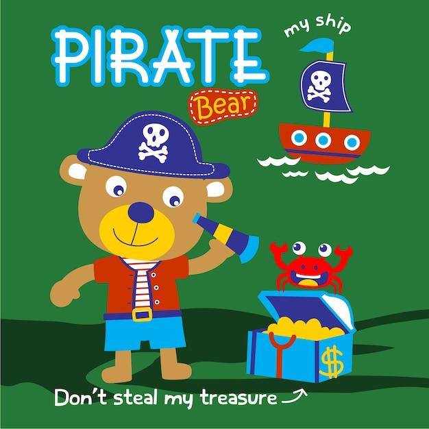Нести пирата Premium векторы