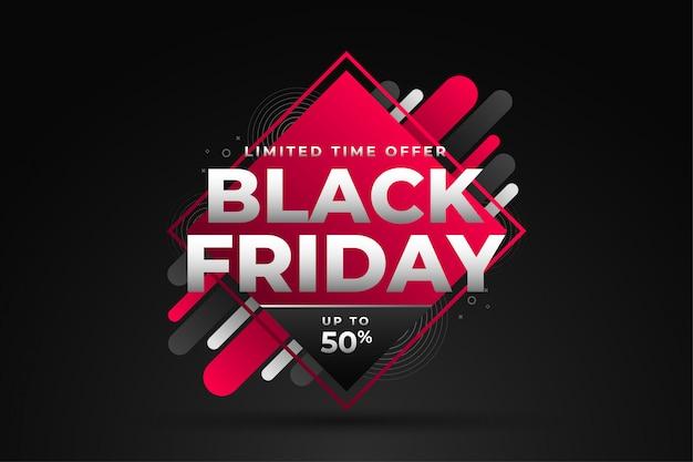 割引詳細と黒い金曜日販売バナー Premiumベクター