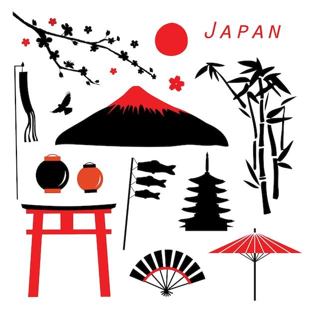 日本の旅行アイコンベクトル Premiumベクター