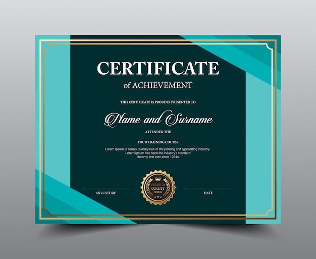 Дизайн шаблона макета сертификата. роскошь и современный стиль, произведения искусства. Premium векторы
