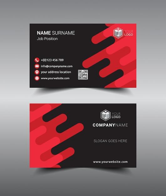 Современный креативный и чистый дизайн визитной карточки. Premium векторы