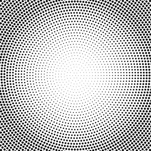 Абстрактные векторные черно-белые пунктирные полутонов фона Premium векторы