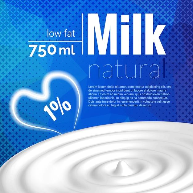 Дизайн молока Premium векторы