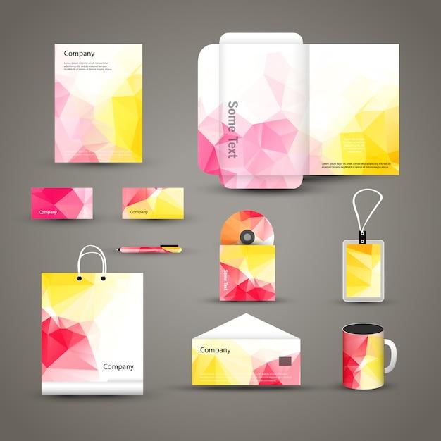 コーポレートブランドビジネスアイデンティティデザインテンプレートのレイアウト Premiumベクター