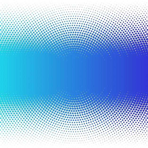 抽象的なカラフルな青いハーフトーンドット背景 Premiumベクター
